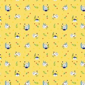 Spring  Rabbits Yellow