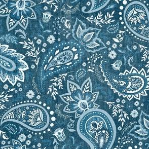 Teal Soma Paisley - Textured