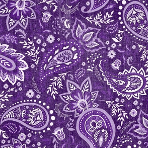 Purple Soma Paisley - Textured