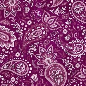 Fuchsia Soma Paisley - Textured