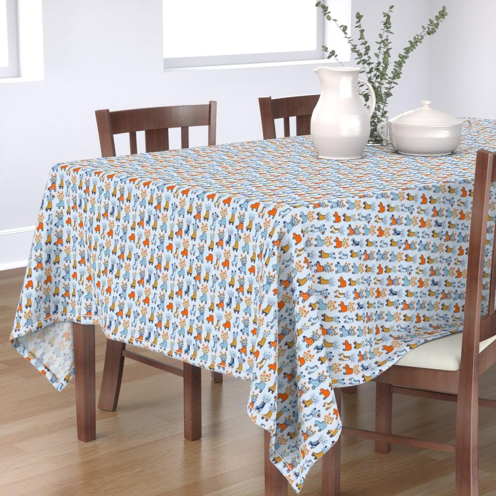 Bantam Rectangular Tablecloth featuring Flower power by alenkakarabanova
