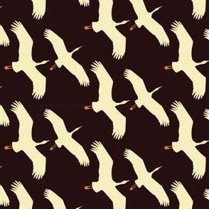 Crane in flight