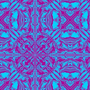 Purple and Blue symmetry cross and mandala