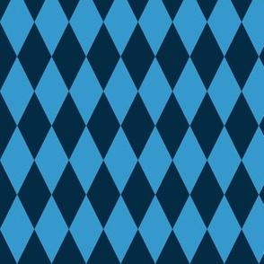 basic diamonds | dark blue on blue