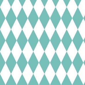 basic diamonds | white on light blue