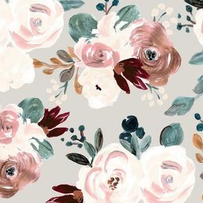 Fiore rose - gray L