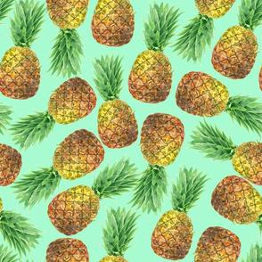 Pineapple watercolor pattern 4