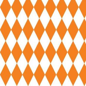 basic diamonds | white on orange