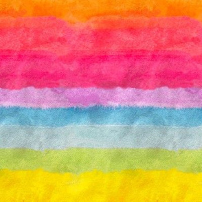 Neon Rainbow Watercolor Stripe