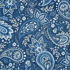 Blue Soma Paisley - Textured