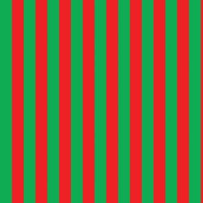 basic stripes | red on green