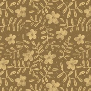 Floral Pattern - Sand