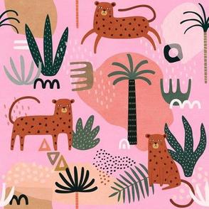 Jungle Pattern with Cheetahs