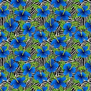 ZEBRA STRIPES  V BLUE GREEN SILVER 8