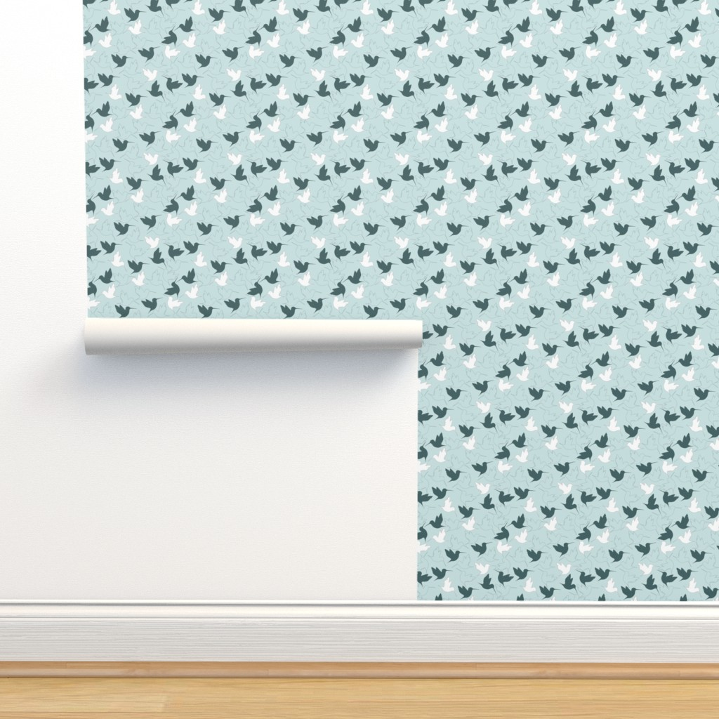 Isobar Durable Wallpaper featuring hummingbird outline by flossiesgrand