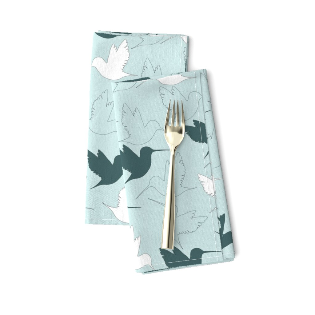 Amarela Dinner Napkins featuring hummingbird outline by flossiesgrand