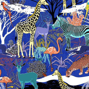 Savannah Fauna (Bright Colors)