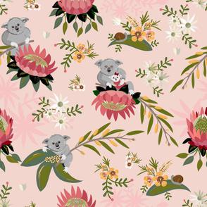 KOALA PINK Floral BG _ PROTEA2-13-01
