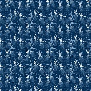 Jellyrinas- Floral Jellyfish Ballerinas- Blue, Ice, Slate, Midnight- Ditsy Scale