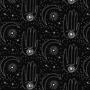 Zodiac Hands Black Astrology