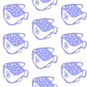 Pufferfish - Kids Design lilac
