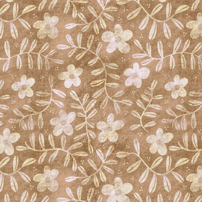 Textured Floral Pattern - Sand