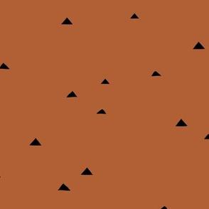 Little inky triangle confetti arrows abstract Scandinavian trend minimal basic nursery pattern rust copper winter