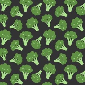 Broccoli on Dark Grey