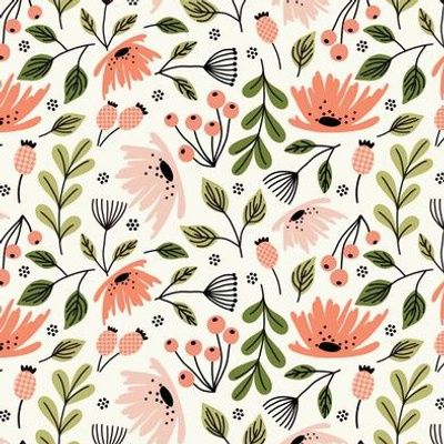 Ditsy modern Floral - small scale