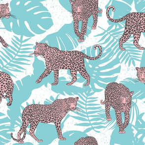 Pink Leopards in the jungle