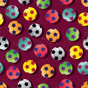 Soccer Fan on Maroon by ArtfulFreddy