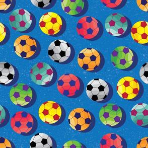 Soccer Fan on Blue by ArtfulFreddy