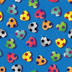 Soccer Love on Blue by ArtfulFreddy