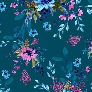 Giacinta Spring Blossom - Dark Teal