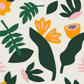 Leafy pattern in cream