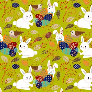 Detective Easter Bunnies at Work- Finding Easter Eggs- Regular Scale