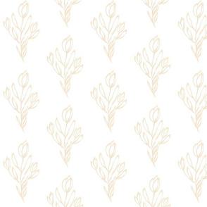 Cream Leaves