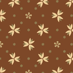 Basic geometric flower | brown