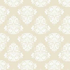symetric damask   white cream