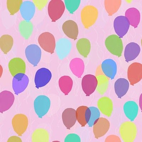 Floating Balloons- Pink Bright Micro