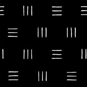 Line Group Pattern on Black