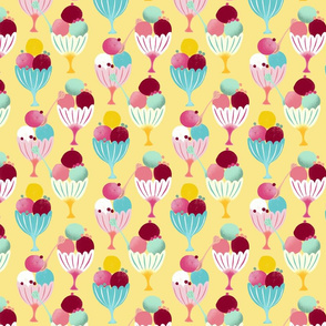 ice cream cups yellow