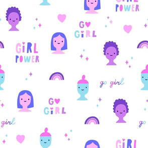 Cute feminist girls. Feminism pattern