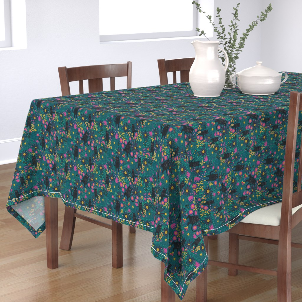 Bantam Rectangular Tablecloth featuring Kewl cats by scarlette_soleil