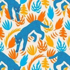 Tropical Blue Leopard Pattern II