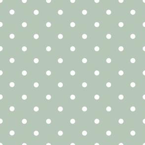 Sage Polka Dots