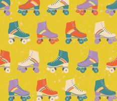 Rainbow roller skate