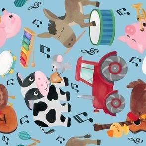 Farm Life Barn Animals Green Tractor