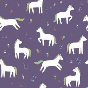 Meadow Ponies on Cassis Purple