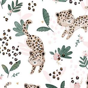 Cheetah - white pink - BIG